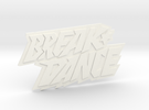 Magnetaufsatz Break Dance Logo  in White Strong & Flexible Polished