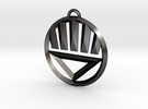 Black Lantern Keychain in Polished Grey Steel
