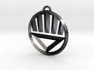 Black Lantern Keychain in Polished Grey Steel