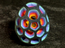 Mosaic Egg #2 in Full Color Sandstone