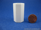 Large planter or waste basket 1:12 scale in White Strong & Flexible Polished