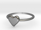 Heart-ring-solid-size-7 in Polished Silver