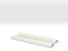 CNR - C-1/C-2 Roofs - S Scale in White Strong & Flexible