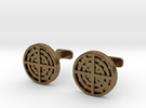 Radial Cufflinks in Raw Bronze