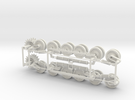 1:16scale TYPE97 TANK  Wheels set  Ver1.1 in White Strong & Flexible