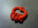 3 Hearts Linked in Love in Red Strong & Flexible Polished