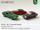 SET 3x Vauxhall Cavalier (N 1:160) in Frosted Ultra Detail