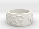 Baywood Bear Ring Size 7 in White Strong & Flexible
