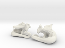 Cuddley Baby Dragons in White Strong & Flexible