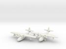 Grumman JRF-5 Goose (2 airplane set) 1/285 6mm in White Strong & Flexible