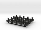 N Gauge Replacment Graham Farish Bolster Pins x20 in Black Strong & Flexible