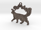 Somali Cat Breed Pendant in Stainless Steel