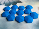 Mana Crystals (batch of 5) in Blue Strong & Flexible Polished