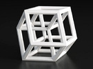 Hypercube B (11cm) in White Strong & Flexible Polished