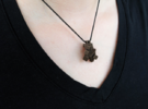 Pyrite Pendant in Stainless Steel