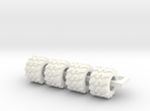710/40-225 Tire in White Strong & Flexible Polished