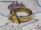 Ring - Triforce of Courage (Size 13) in Stainless Steel