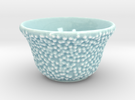 DRAW tea bowl - lumpy bumpies in Gloss Celadon Green Porcelain
