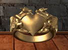 HeartRing in Polished Brass
