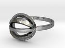 String Theory Ring - Size 7.5 in Polished Silver