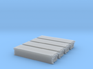 2 inch x 4 inch x 16 foot Lumber Load, N Scale in Frosted Ultra Detail: 1:160