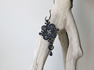 Antique style Pendant 2 in Black Strong & Flexible
