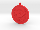 Pokemon Go - Valor Team Pendant - WITH YOUR NAME! in Red Strong & Flexible Polished