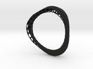 Organic Bangle 1.1 (Ladies 7cm diameter)  in Black Strong & Flexible
