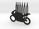 Motorbike decorative hair comb - big size in Black Strong & Flexible