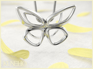 Cepora Butterfly Pendant in Premium Silver