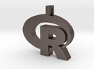 Pendant R Statistics Logo (thickness 4.5 mm) in Stainless Steel