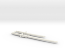 Bludgeon Swords (Katana and Wakizashi) 3mm Grip in White Strong & Flexible