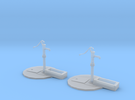 Street pump type: A 1:87( H0 ) scale 2 Pcs set in Frosted Extreme Detail