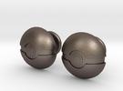 Pokeball Cufflinks in Stainless Steel