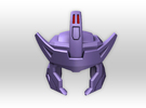 G1 Styled Helm for TR Galvatron in Purple Strong & Flexible Polished