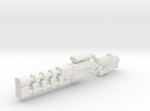 Rail gun extended onepiece 1:18th Scale UPDATED lo in White Strong & Flexible