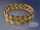 Celtic Knot Ring 1 ~ US size 14 in 14K Gold