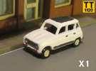 Renault 4 Hatchback 1:120 scale (Lot of 1 car) in Frosted Ultra Detail