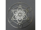 Super Metatron's Cube in Raw Silver