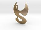 S p i d e r G a l a x y Belt-Buckle in Polished Gold Steel