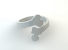Crossed Bone Ring Size 6.75 in White Strong & Flexible