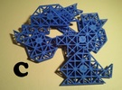 Ptarmigan Puzzle (Set C) in Blue Strong & Flexible Polished