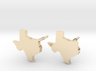 Texas State Earrings, post style in 14k Gold Plated