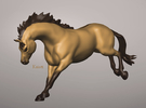 Bucking/Leaping Horse in White Strong & Flexible