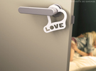 "Door-hanger ""Love"" (Small) in White Strong & Flexible"