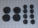 LEGO®-compatible helical gears in Black Strong & Flexible