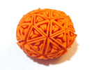 Soft-Boiled Geodesic (4.5cm) in Orange Strong & Flexible Polished