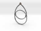 BlakOpal Open Teardrop Earring in Interlocking Polished Silver