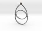 BlakOpal Open Teardrop Earring in Interlocking Polished Silver