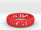 Linden Eagles Ring  in Red Strong & Flexible Polished: Extra Large